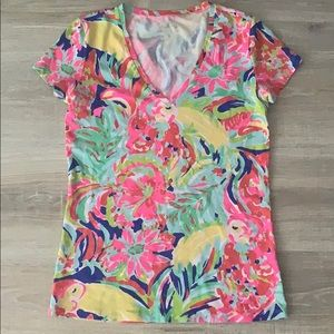 Lilly Pulitzer Floral Short Sleeve Top